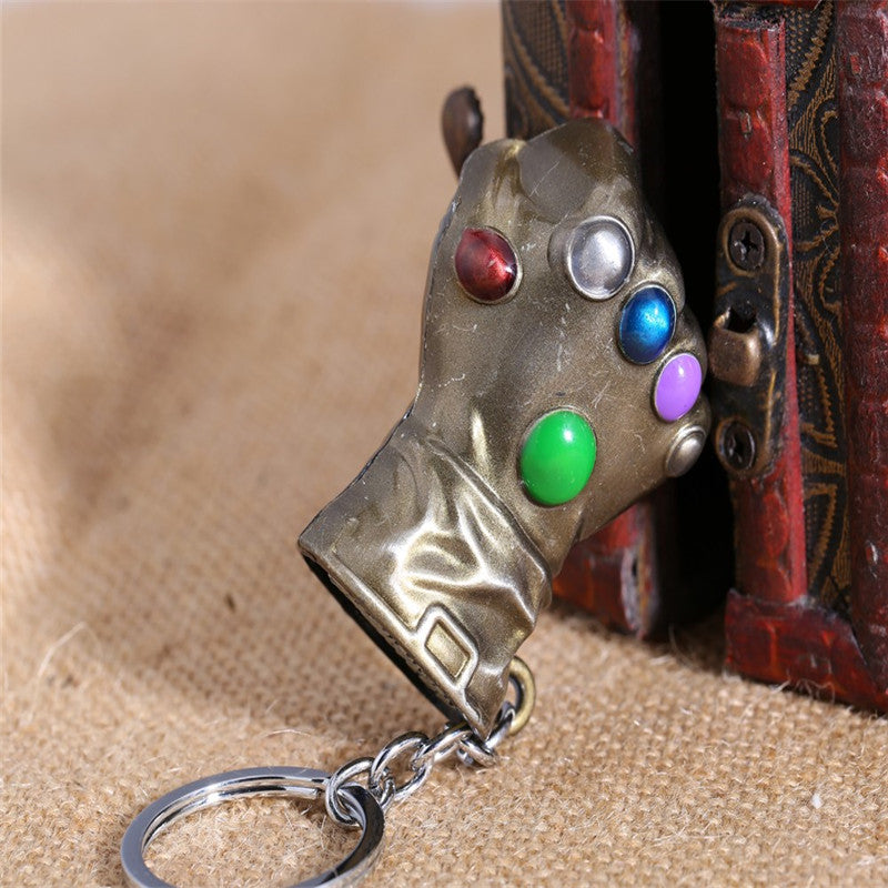 The Infinity Gauntlet Thanos Metal Alloy Gold Key Chain-OtakuPlan
