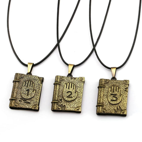 Image of Gravity Falls Journal 3 Book Shape Chocker Pendant Necklace-OtakuPlan