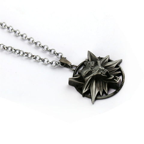 Image of The Witcher 3 Wild Hunt Necklace Wolf Head Pendants & Necklace-OtakuPlan