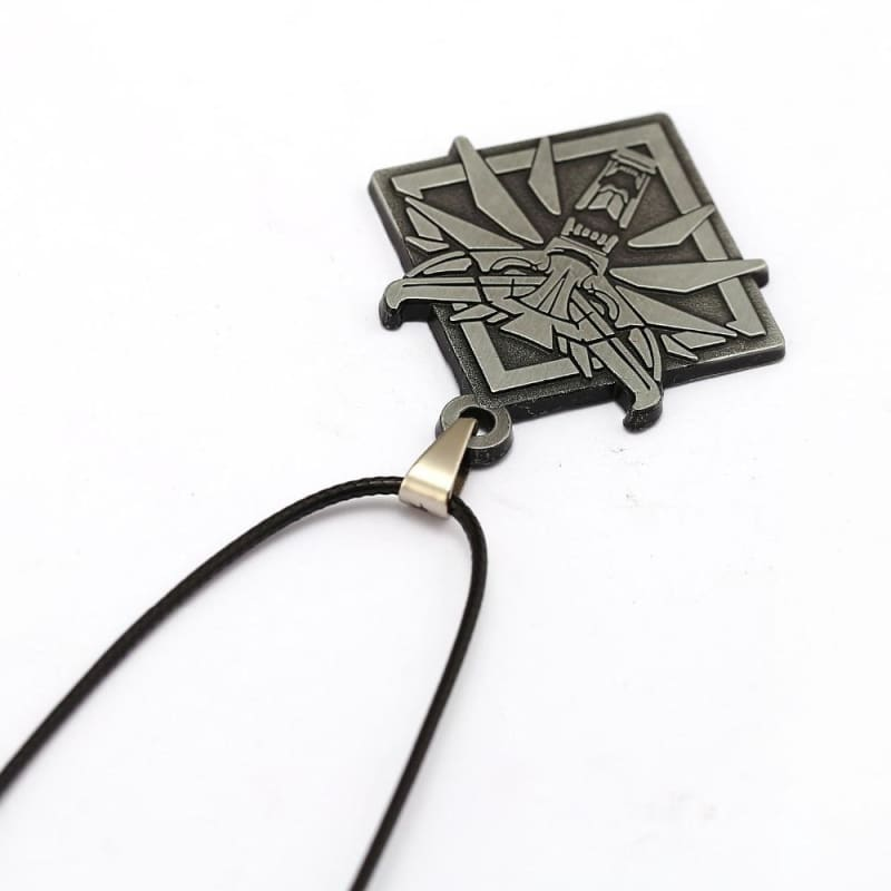 Game The Witcher 3 Wolf Head Wild Hunt Pendant Necklace-OtakuPlan