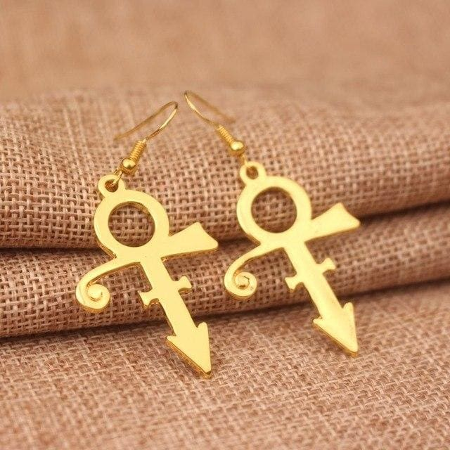 Prince RIP Memorial Symbol Love Logo Earrings women & girls-OtakuPlan