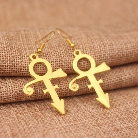 Image of Prince RIP Memorial Symbol Love Logo Earrings women & girls-OtakuPlan