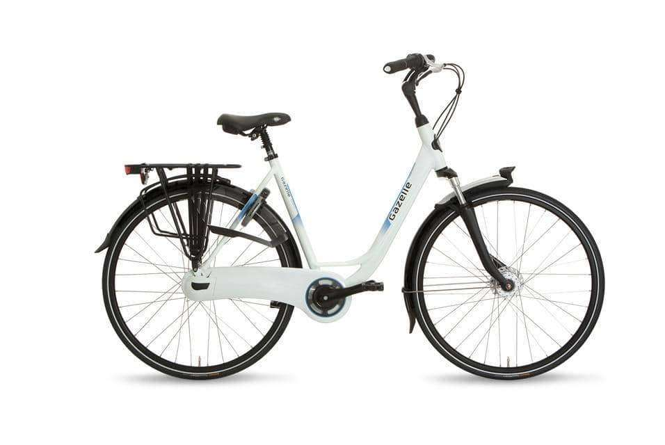 Gazelle Orange C7+ Dames -57 cm-Premium white - Fietsenconcurrent.nl