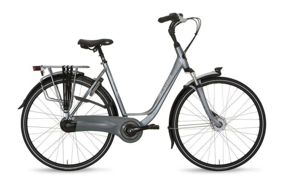 Gazelle Orange C7+ Dames -49 cm-Industry grey - Fietsenconcurrent.nl