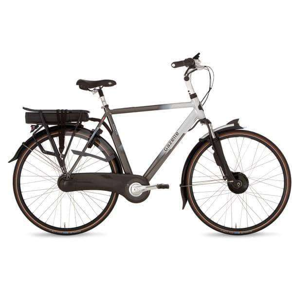 Gazelle Orange C8 Hybrid F 2015 Heren -Eclipse black/grace silver-61 cm - Fietsenconcurrent.nl
