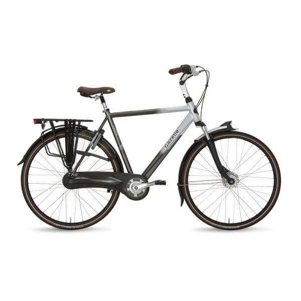 Gazelle Orange C8 2015 Heren -Eclipse black/grace silver-57 cm - Fietsenconcurrent.nl