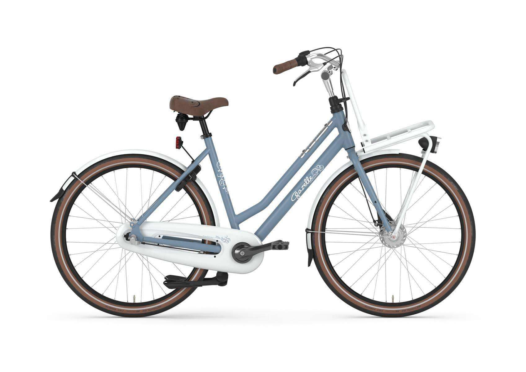 Gazelle Miss Grace 7 Dames-Jeans Blue Matt-49 cm - Fietsenconcurrent.nl