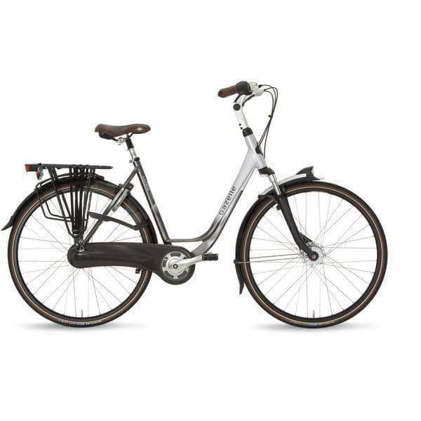 Gazelle Orange C8 2015 Dames-Eclipse black/grace silver-61 cm - Fietsenconcurrent.nl