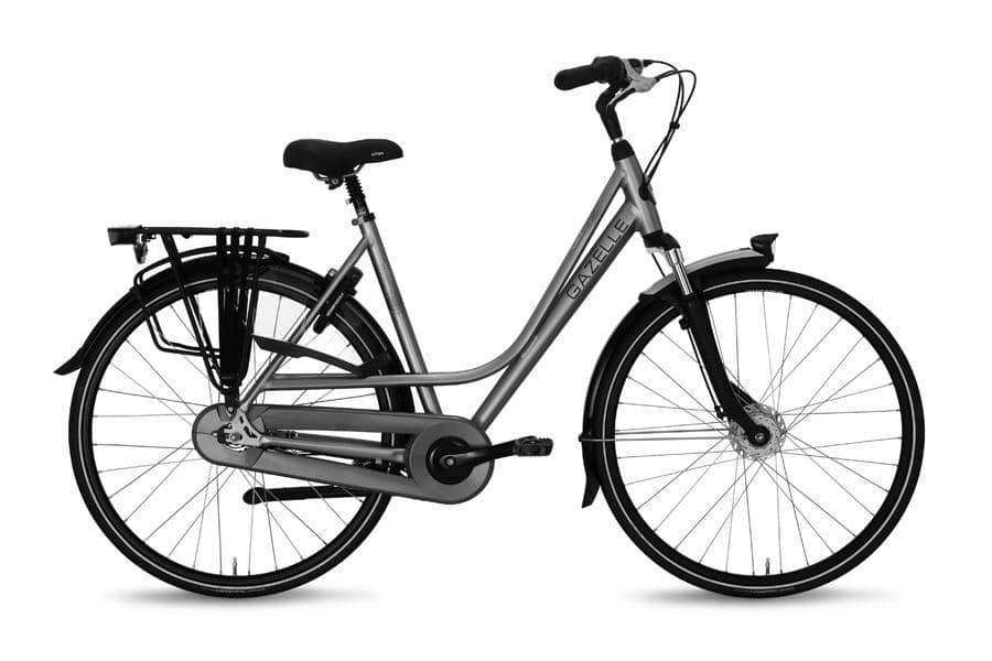 Gazelle Paris C7+ Dames -Royal silver -57 cm - Fietsenconcurrent.nl
