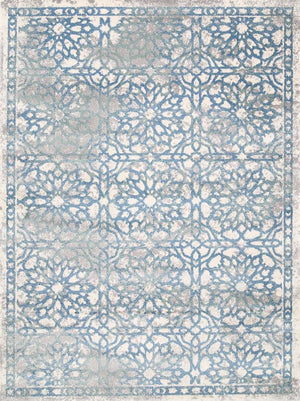 Arctic Blue Demask Rug