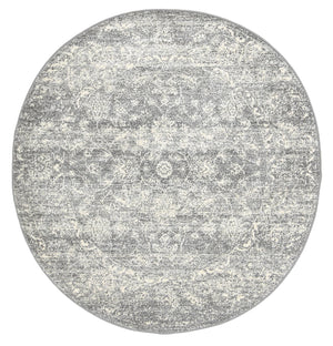 Garonne Round Flower Dance Grey Rug