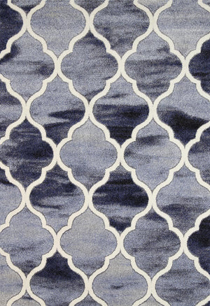 Vision Lattice Blue Grey Rug