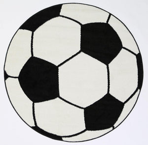 Magic Soccer Ball Round Kids Rug