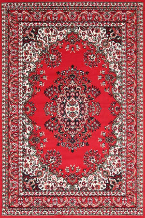 Toulouse Traditional Medallion Red Rug