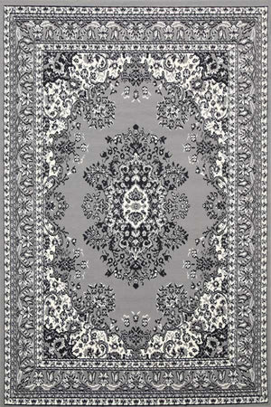 Toulouse Traditional Medallion Grey Rug
