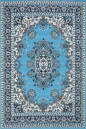 Toulouse Traditional Medallion Blue Rug