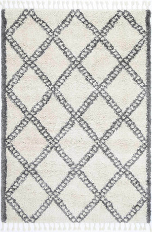 Safi Super Diamond Cream Grey Rug