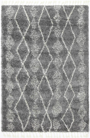 Safi All in Line Grey Cream Rug