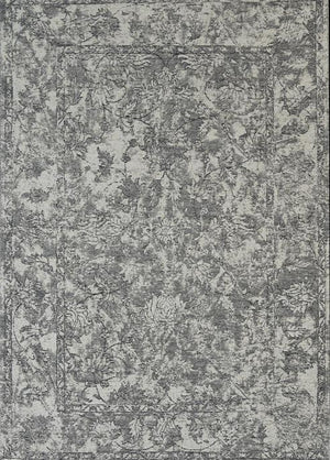 Orleans Florence Border Grey Distressed Rug
