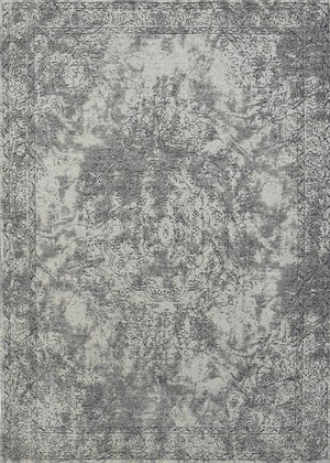 Orleans Florence Medallion Border Grey Distressed
