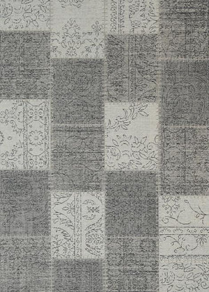 Orleans Stitched Grey Distressed Rug