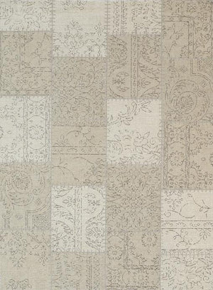 Orleans Stitched Beige Distressed Rug