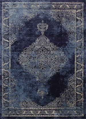 Chambery Royal Jewel Distressed Navy Rug