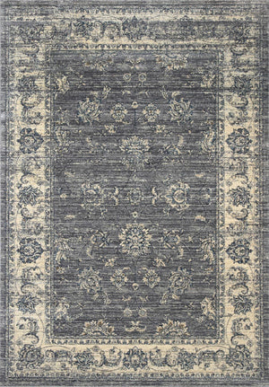 Meren Vintage Poppy Field Grey Rug