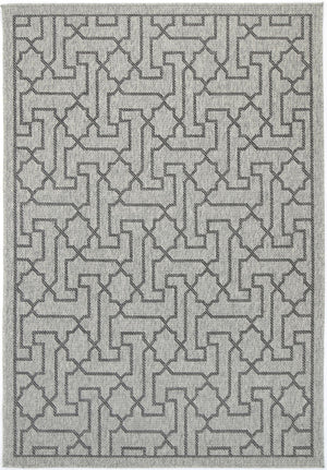 Sorrento Meknes Light Grey Black Indoor/Outdoor Rug