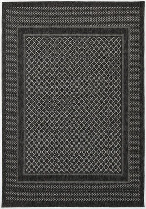 Sorrento Border Black Light Grey Indoor/Outdoor Rug