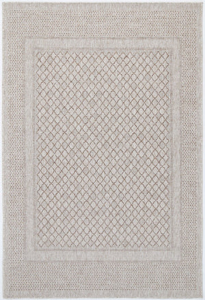 Sorrento Border Cream Beige Indoor/Outdoor Rug