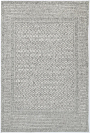Sorrento Border Light Grey Cream Indoor/Outdoor Rug