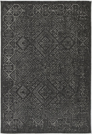 Sorrento Sefrou Black Light Grey Indoor/Outdoor Rug
