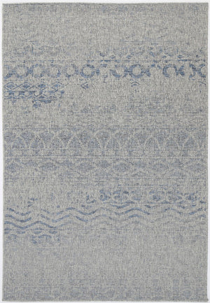 Sorrento Ifrane Light Grey Blue Indoor/Outdoor Rug