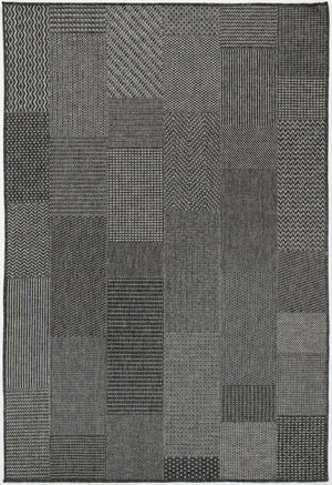 Sorrento Nador Black Light Grey Indoor/Outdoor Rug