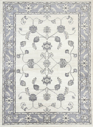 Chambery Drop Flower Cream Grey Rug