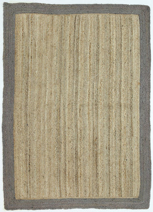 Charente Taupe Border Jute Rug