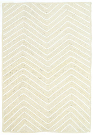 Andelle Natural Jute Chevron Pearl Rug