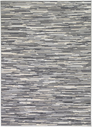Courtyard Hue Indoor/Outdoor Charcoal Rug