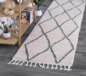 Safi Perfect Diamond Tribal Cream Runner  Rug