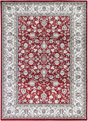 Forever Nain Flower Dance Border Red Cream Rug
