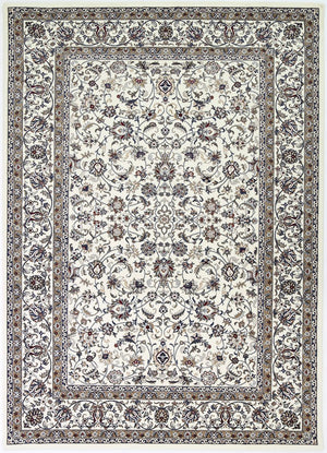Forever Nain Flower Dance Border Cream Rug