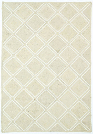 Andelle Natural Jute Parquetry Pearl Rug