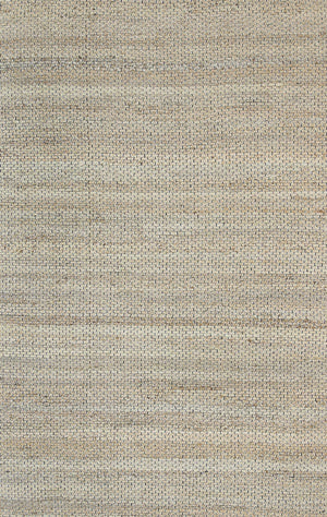 Nantes Aditi Natural Basket Weave Black Jute Rug