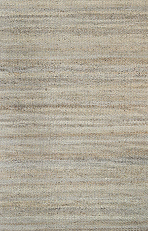 Nantes Aditi Natural Basket Weave Grey Jute Rug
