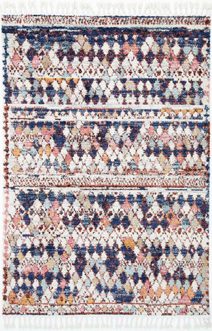 Sahara Dream Boho Style White Navy Rug