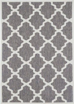 Monte Marrakech Grey White Outdoor/Indoor Rug