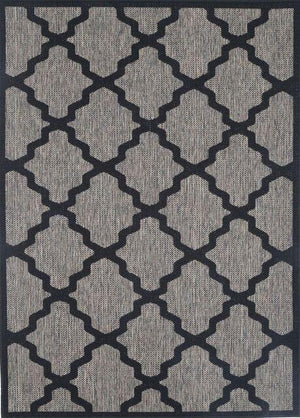 Monte Marrakech Grey Black Outdoor/Indoor Rug