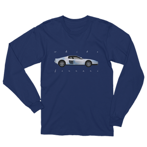 White Ferrari Long Sleeve