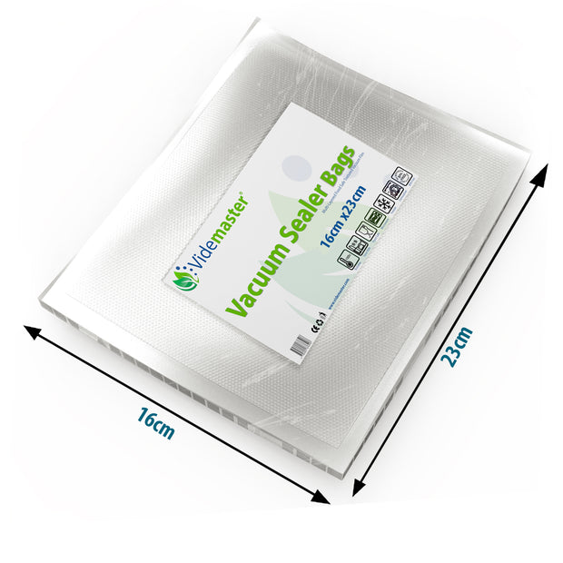 16 x 23 cm Vacuum Food Sealer Bags (100s)